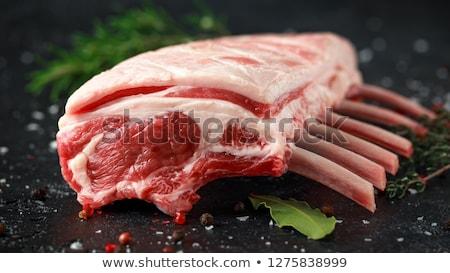 Lamb ribs cooking. Raw rack of lamb Stock photo © karandaev