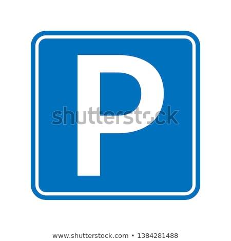 автомобилей стоянки вектора знак тонкий линия Сток-фото © pikepicture