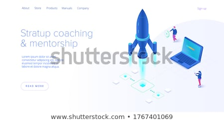 Coaching Mentoring kreative Business Web-Design Vorlage Stock foto © tashatuvango