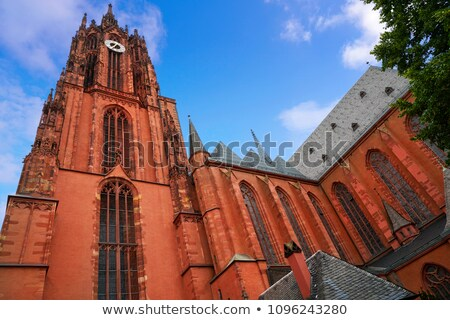 Historic church tower in Frankfurt Stock photo © manfredxy