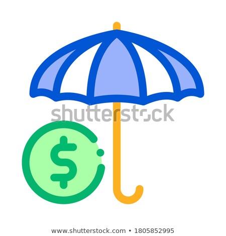 Paraplu kleur icon vector schets illustratie Stockfoto © pikepicture