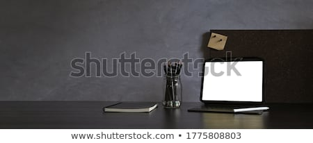 Design of modern workspace at home Stock photo © dashapetrenko