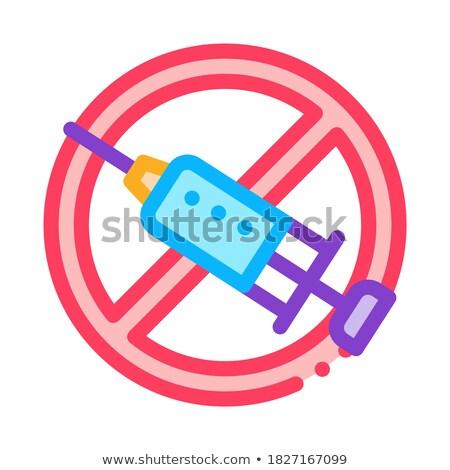 Injectie verbieden icon vector schets illustratie Stockfoto © pikepicture
