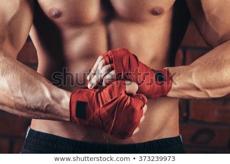Sterke gespierd gemengd vechtsporten vechter succes Stockfoto © Jasminko