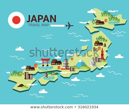 National Japan Landmark, Japanese Sign Vector Stock photo © robuart