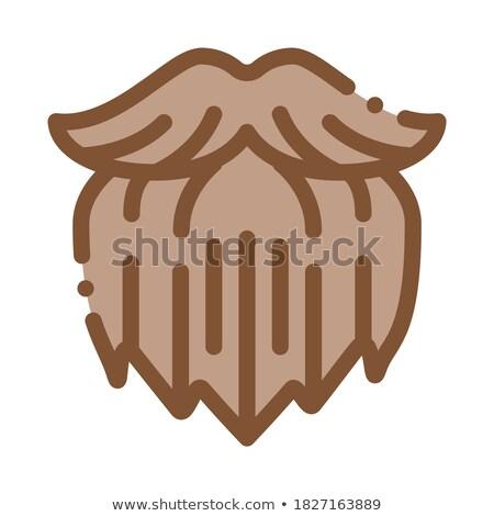 человека жестокий борода икона иллюстрация Сток-фото © pikepicture