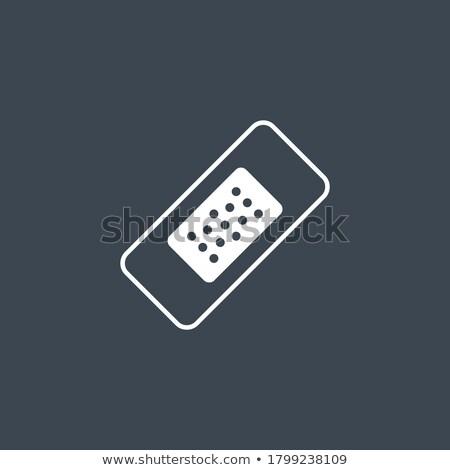 Ferida vetor ícone isolado branco mão Foto stock © smoki
