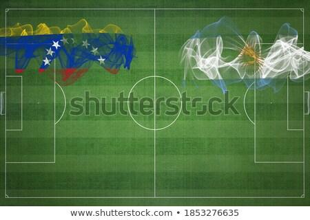 Venezuela vs Argentinien Fußball Spiel Illustration Stock foto © olira