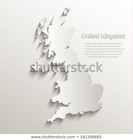 Poster map of countries of the United Kingdom Stock photo © FoxysGraphic