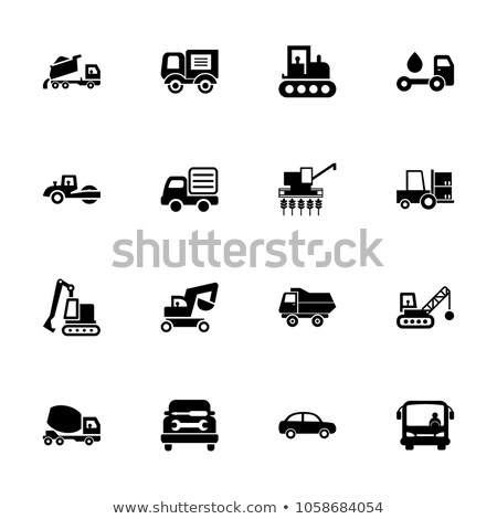 Mining Industry, Vehicles Like Lorry and Bulldozer Stock photo © robuart