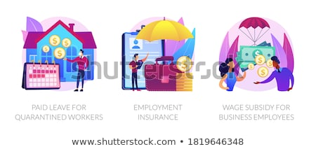 Paid leave for quarantined workers abstract concept vector illustration. Stock photo © RAStudio