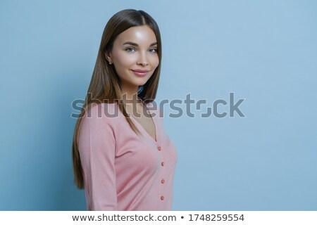 Perfil tiro belo encantador morena mulher Foto stock © vkstudio