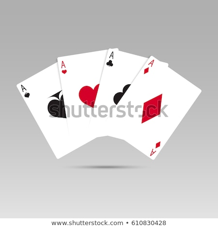 Stock photo: Three diamonds in the shape of heart on white