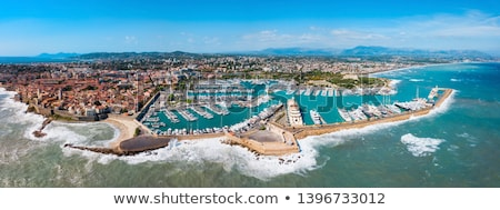 Panorama of Old Port of Nice with yachts, France Stock photo © dmitry_rukhlenko
