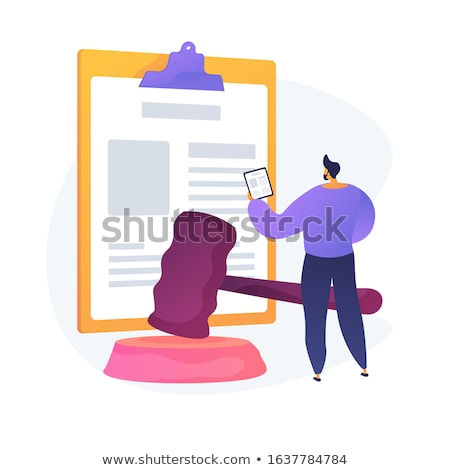 Legal statement vector concept metaphor Stock photo © RAStudio