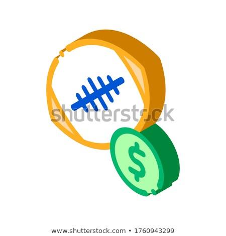 Rögbilabda fogadás hazárdjáték izometrikus ikon vektor Stock fotó © pikepicture