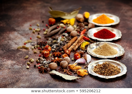 Various spices, herbs and condiments Stock photo © karandaev