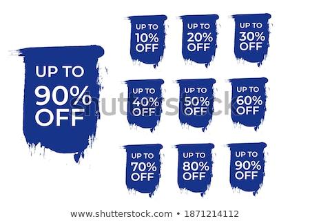 Set of blue eshop elements Stock photo © orson