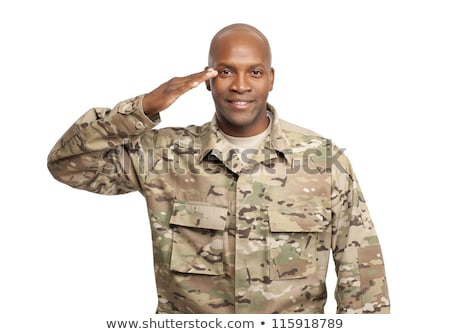 Smiling Relaxed Man Saluting Stock photo © rognar