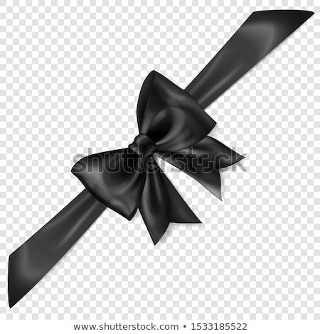 Noir coin ruban lieu texte vérifier Photo stock © orson