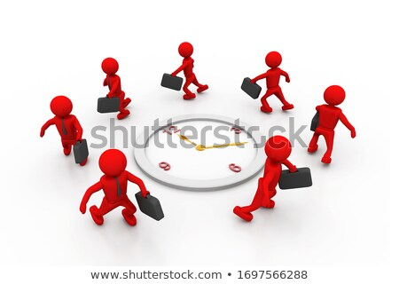 group of businesspeople run and beat for time stock photo © 4designersart