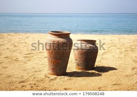 ポット ビーチ 夏 旅行 休日 花瓶 ストックフォト © gant