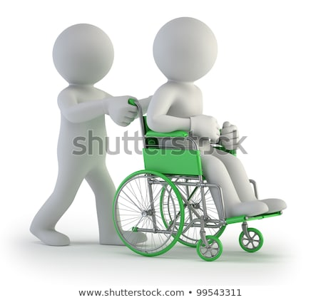 3d small people - wheel stock photo © AnatolyM
