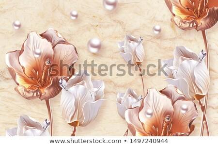 A lovely tulip on beige background, illustration stock photo © Julietphotography