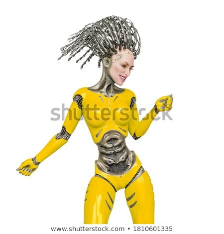 sensual · robô · pose · 3d · render · feminino · mulher - foto stock © spectral