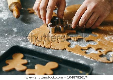 Noel · kurabiye · görmek · kadın · dokunmak - stok fotoğraf © inganielsen