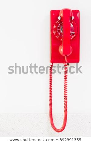 velho · parede · telefone · isolado · telefone · madeira - foto stock © Rambleon