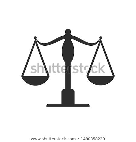 balança · ver · latão · mármore · justiça · advogado - foto stock © Rambleon