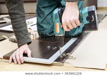 大工 作業 クローゼット ドア 男 木材 ストックフォト © photography33