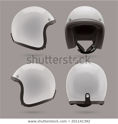 Stockfoto: Motorfiets · helm · witte · studio · geïsoleerd · veilig
