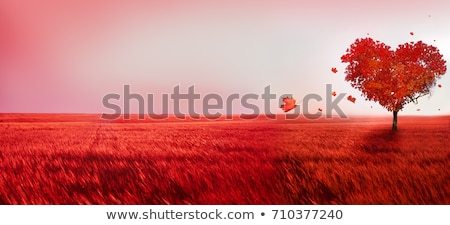 Abstract Valentine background with leaf Stock photo © boroda