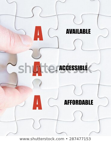 Acronym of AAA - available, accessible. affordable Stock photo © bbbar
