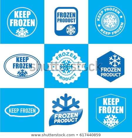 Button Icon: Product frozen Stock photo © RomanenkoAlex