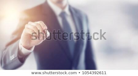 手 · 書く · ビジネスマン · 孤立した · 白 · 背景 - ストックフォト © Kurhan