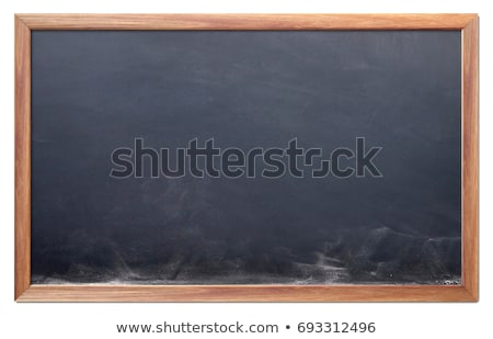blank menu with a wooden frame stock photo © bbbar