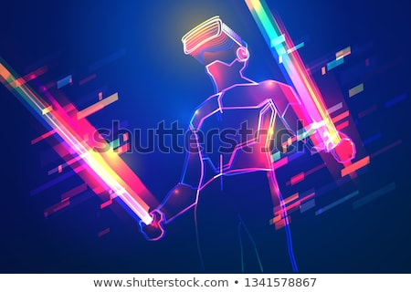 man with a red light sword Stock photo © bmwa_xiller