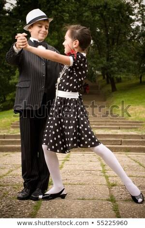 Belo casal dançar vetor sorrir festa Foto stock © yura_fx