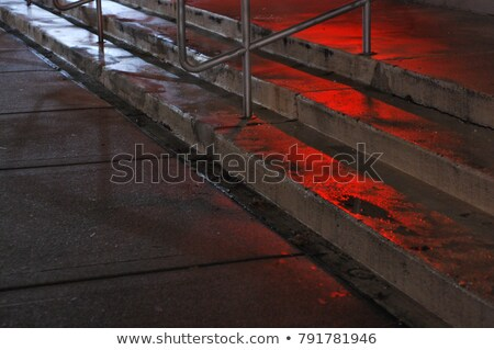 Dark Metal Stairway at Night Stock photo © bobbigmac