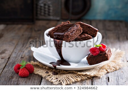 Chocolate Brownie And A Cup Of Coffee Stock photo © stuartmiles