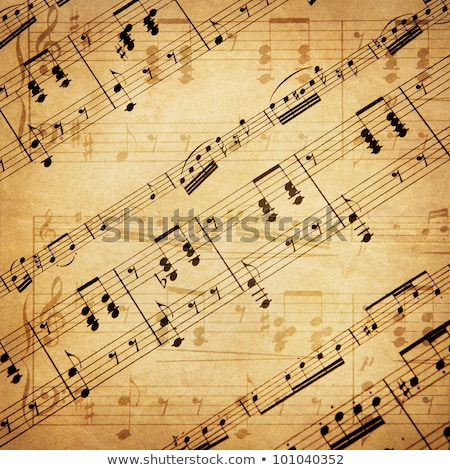 Сток-фото: Music Notes On Grunge Paper