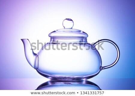 cam · demlik · çay · fincanı · ahşap · ahşap · sağlık - stok fotoğraf © karandaev