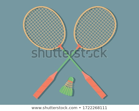 Deux badminton sport fitness balle blanche Photo stock © IMaster