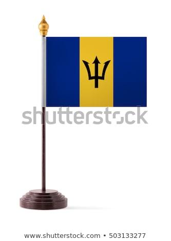 миниатюрный флаг Барбадос изолированный заседание Сток-фото © bosphorus