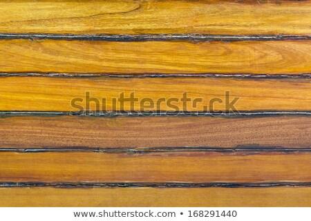 boat wooden hull texture detail with caulking putty Stock photo © lunamarina