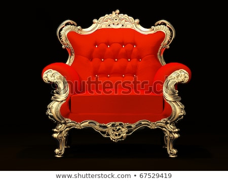 Royal armchair with gold frame isolated on black background Stock photo © Victoria_Andreas
