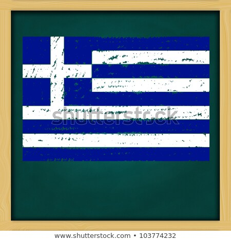 square green chalkboard with greece map stock photo © nuiiko